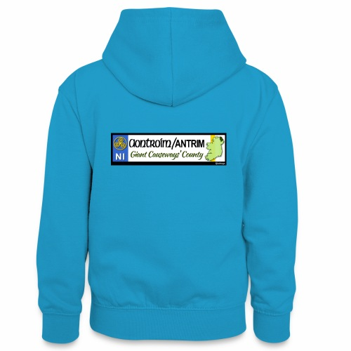 CO. ANTRIM, NORTHERN IRELAND licence plate tags - Teenager Contrast Hoodie