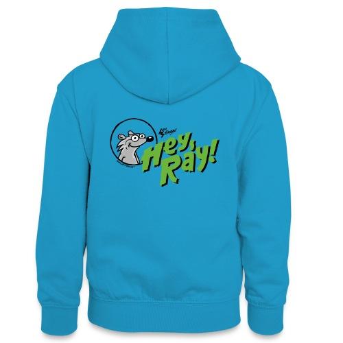 Hey Ray Logo green - Teenager Kontrast-Hoodie