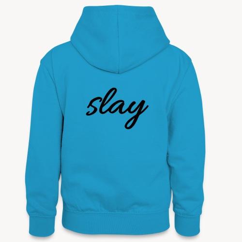 SLAY - Teinien kontrastivärinen huppari