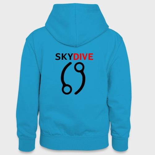 Skydive Pin 69 - Teenager Kontrast-Hoodie