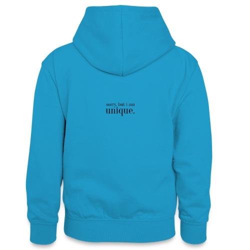 sorry but i am unique Geschenk Idee Simple - Teenager Kontrast-Hoodie