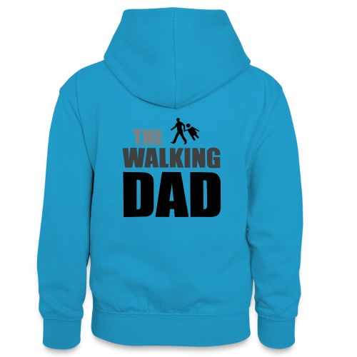 the walking dad auf dem Weg in die lustige Bar - Teenager Kontrast-Hoodie