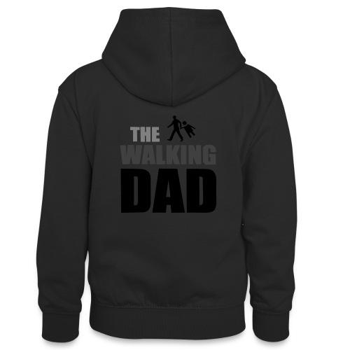 the walking dad auf dem Weg in die lustige Bar - Teenager Kontrast-Hoodie