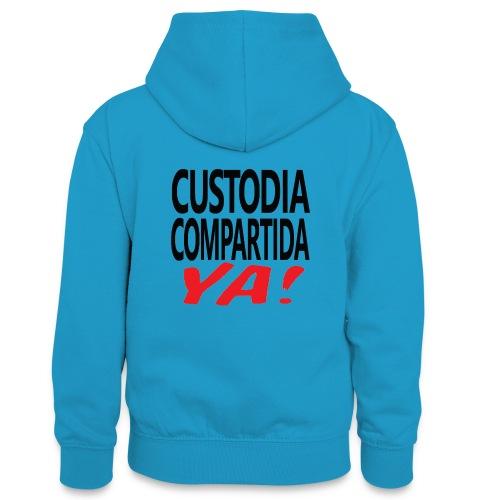 Custodia Compartida YA Negro - Sudadera con capucha para adolescentes