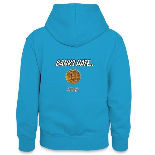 Baks hate - Felpa con cappuccio in contrasto cromatico per ragazzi