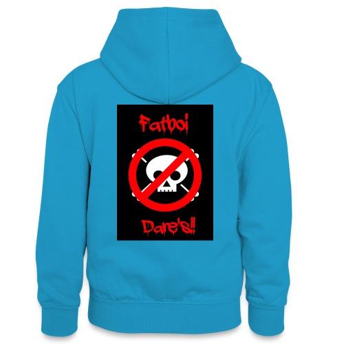 Fatboi Dares's logo - Teenager Contrast Hoodie