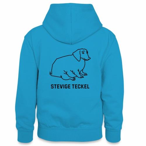 Stevige Teckel - Teenager contrast-hoodie