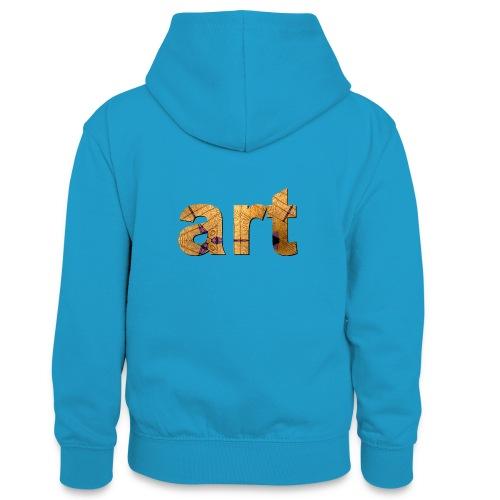 art - Sweat à capuche contrasté Ado