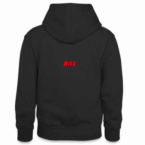 Niek Red - Teenager contrast-hoodie