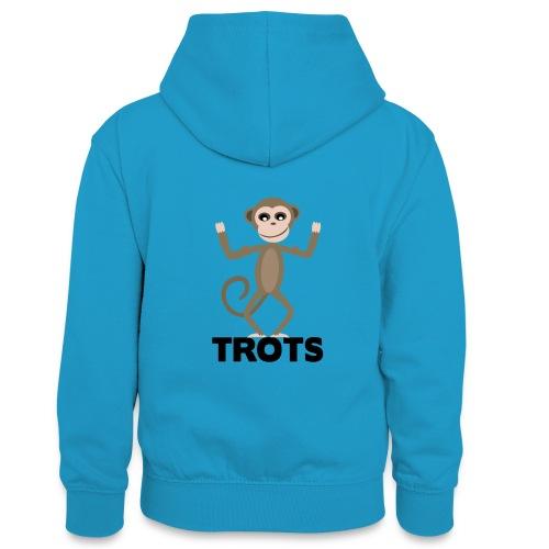 apetrots aapje wat trots is - Teenager contrast-hoodie