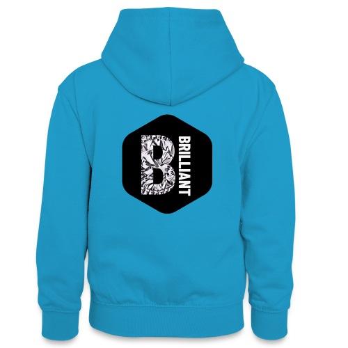 B brilliant black - Teenager contrast-hoodie