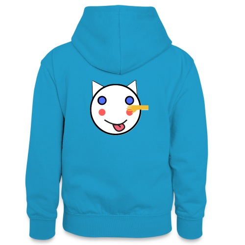 Alf Cat With Friend | Alf Da Cat - Teenager Contrast Hoodie