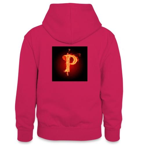 Power player nuovo logo - Felpa con cappuccio in contrasto cromatico per ragazzi