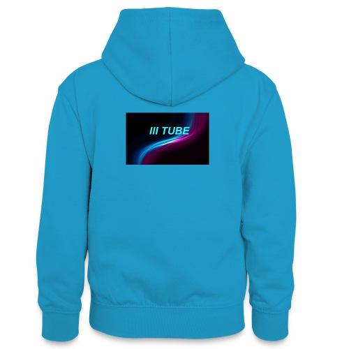 logo - Teenager contrast-hoodie