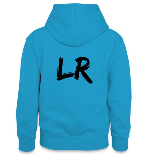 LiamRusso Logo Zwart - Teenager contrast-hoodie