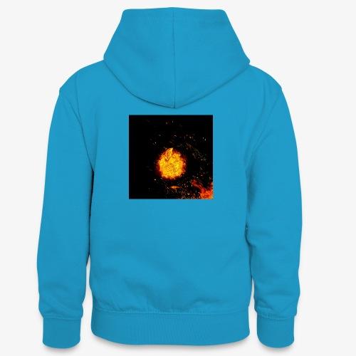 FIRE BEAST - Teenager contrast-hoodie