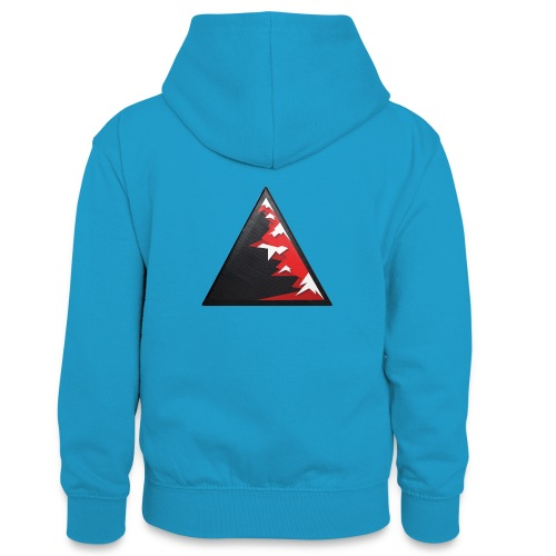Climb high as a mountains to achieve high - Teenager Contrast Hoodie