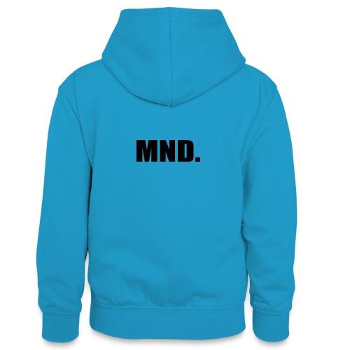 MND. - Teenager contrast-hoodie
