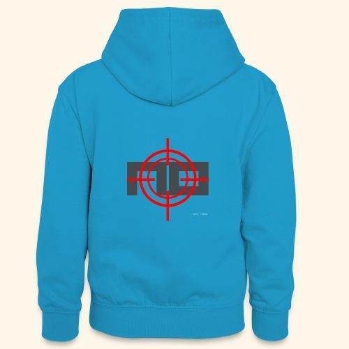 NO GRIJS - Teenager contrast-hoodie