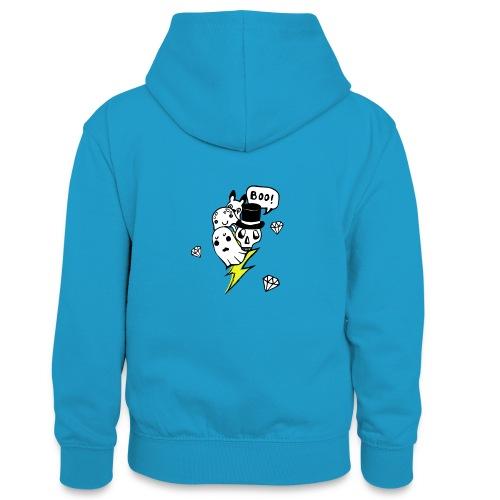 Boo! - Młodzieżowa bluza z kontrastowym kapturem