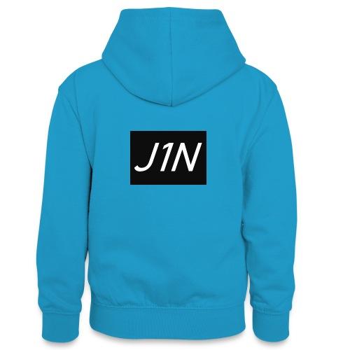 J1N - Teenager Contrast Hoodie
