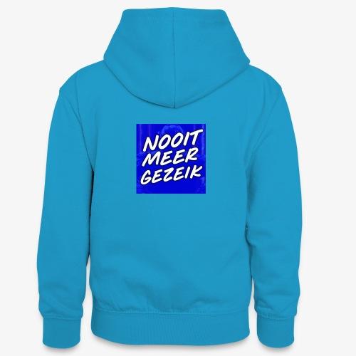 De 'Nooit Meer Gezeik' Merchandise - Teenager contrast-hoodie