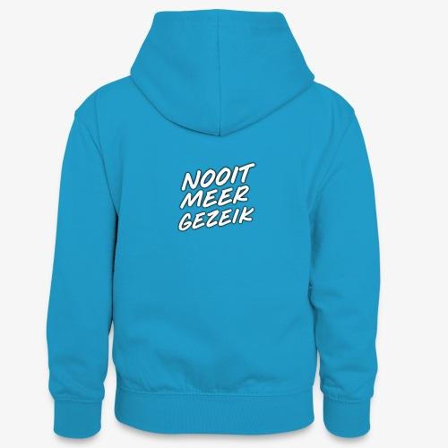 De 'Nooit Meer Gezeik' merchendise - Teenager contrast-hoodie