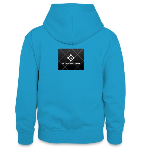 my youtube channle march - Teenager Contrast Hoodie
