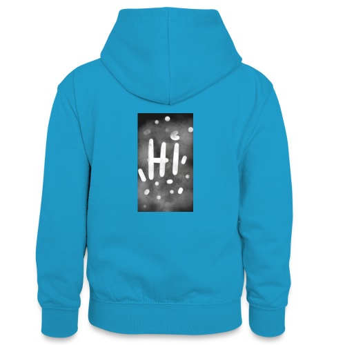 Hola o hi nublado - Sudadera con capucha para adolescentes