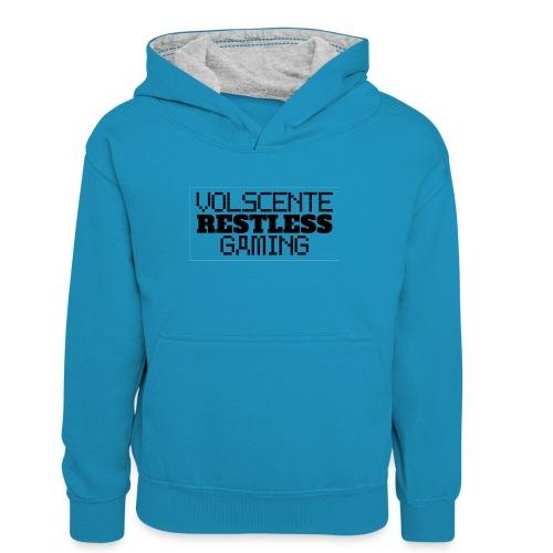 Volscente Restless Logo B - Felpa con cappuccio in contrasto cromatico per ragazzi