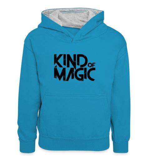 KIND of MAGIC - Teenager Kontrast-Hoodie