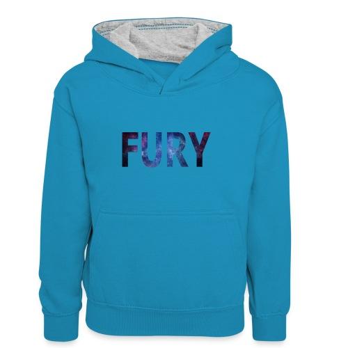 FURY - Kontrasthoodie teenager