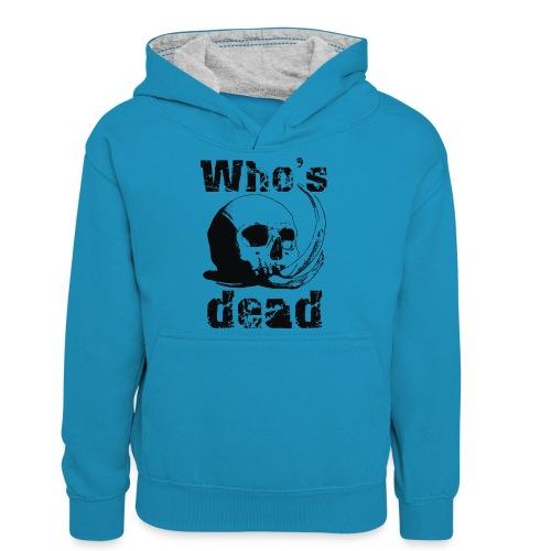 Who's dead - Black - Felpa con cappuccio in contrasto cromatico per ragazzi