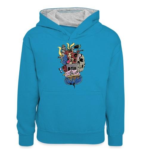 Symphony - Teenager contrast-hoodie