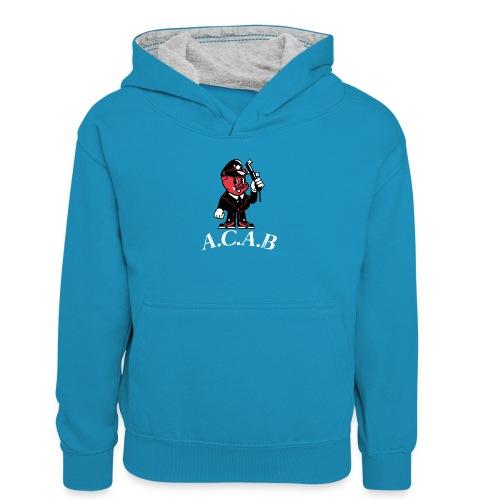 A.C.A.B - Sweat à capuche contrasté Ado