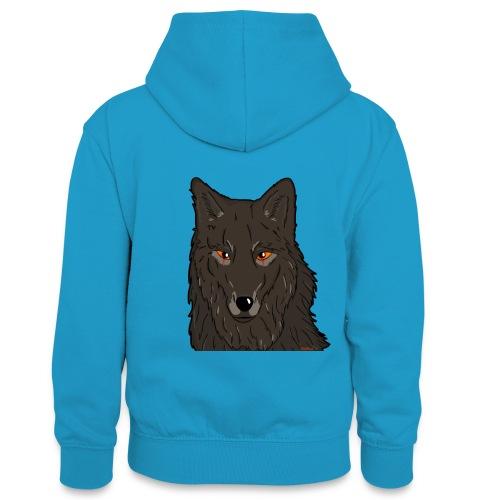 HikingMantis Wolf png - Kontrasthoodie teenager
