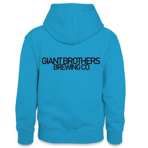 Giant Brothers Brewing co SVART - Kontrastluvtröja tonåring
