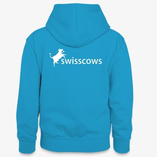 Swisscows - Logo - Teenager Kontrast-Hoodie