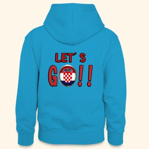 Go Croatia - Felpa con cappuccio in contrasto cromatico per ragazzi