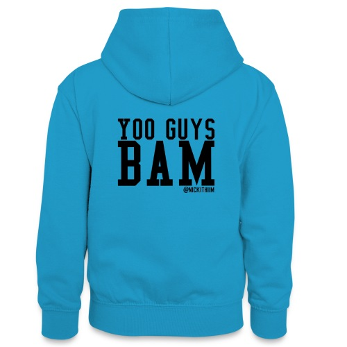BAM! - Teenager Kontrast-Hoodie