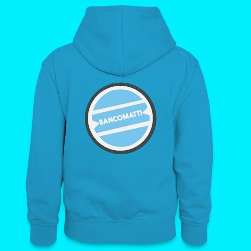 Bancomatti - Felpa con cappuccio in contrasto cromatico per ragazzi