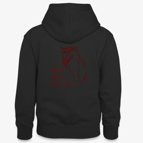 Logo Aveto Wild Horses - Felpa con cappuccio in contrasto cromatico per ragazzi