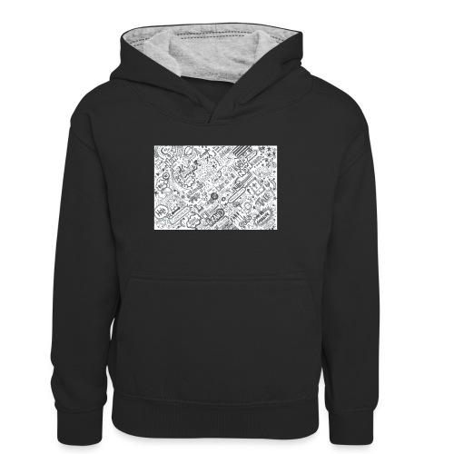 Doodle - Młodzieżowa bluza z kontrastowym kapturem