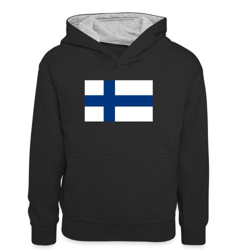 800pxflag of finlandsvg - Teinien kontrastivärinen huppari