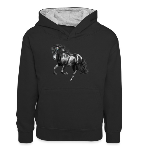 Indian Horse - Teenager Kontrast-Hoodie