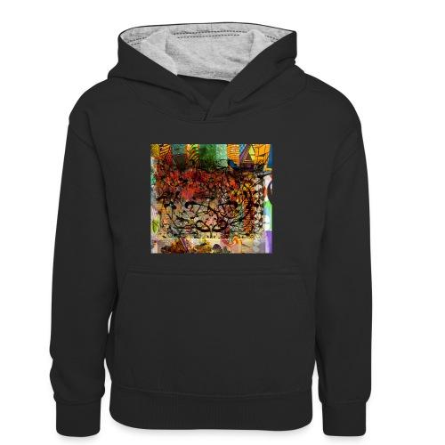 urban tribute - Sweat à capuche contrasté Ado