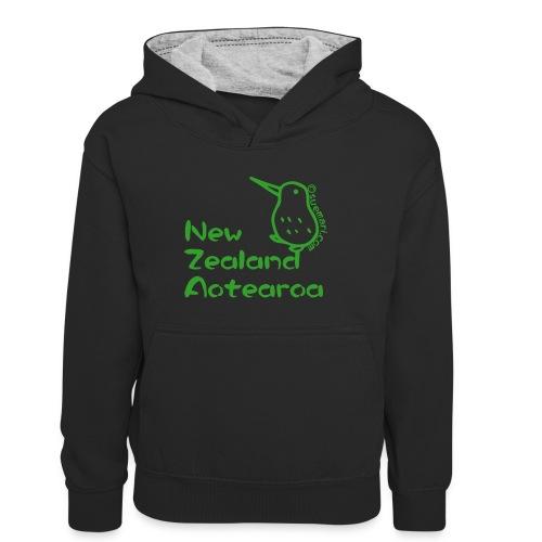 New Zealand Aotearoa - Teenager Contrast Hoodie