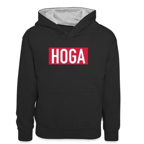 HOGAREDBOX - Kontrast-hettegenser for tenåringer
