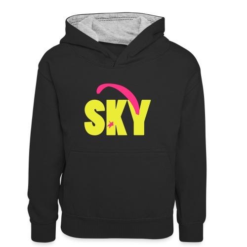 sky - Teenager Kontrast-Hoodie