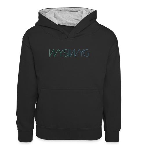 WYSIWYG - Teenager contrast-hoodie